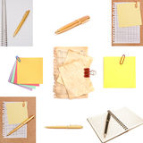 Stationery Isolated On White Background Royalty Free Stock Photo