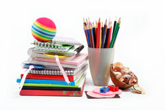 Stationery isolated on white Royalty Free Stock Photography