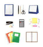 Stationery isolated on white Stock Image