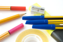 Stationery items Royalty Free Stock Photo