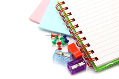 Stationery items close-up Stock Images