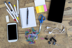 Stationery items Stock Images