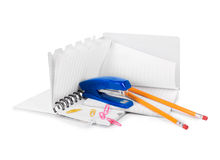 Stationery items Stock Photos