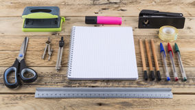 Stationery Items Royalty Free Stock Images