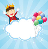 A stationery with a king and balloons Stock Images