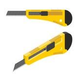 Stationery knife isometrics. Office paper cutter Stock Photo