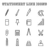 Stationery line icons Stock Photos