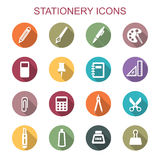 Stationery long shadow icons Stock Image
