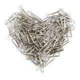 Stationery love concept. Heart shaped staples. Stock Photo