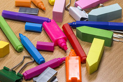 Stationery mess Royalty Free Stock Images