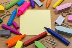 Stationery mess Stock Images