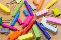 Stationery mess Royalty Free Stock Photo