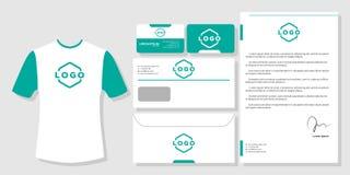 Stationery mockup design branding template. Stationery business card mockup design branding template vector royalty free illustration