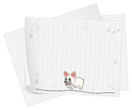 A stationery with musical notes and a dog Royalty Free Stock Photo