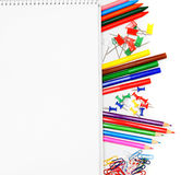 The Stationery and notebook. Stock Images