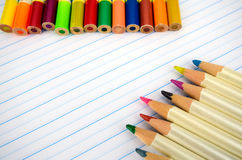 Stationery and Notebook paper with lines. Royalty Free Stock Photo