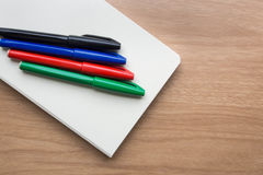 Stationery. And notebook on the table Royalty Free Stock Photo