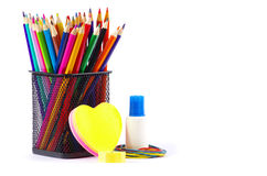 Stationery and notebooks Royalty Free Stock Images