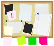 Stationery on Noticeboard Royalty Free Stock Photo