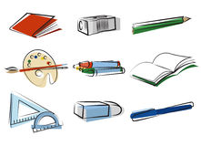 Stationery object vector Stock Photos