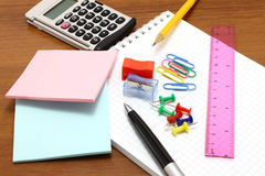 Stationery objects Stock Photos