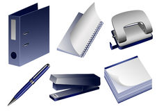 Stationery_objects Foto de archivo libre de regalías