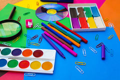 Stationery objects. Royalty Free Stock Photography