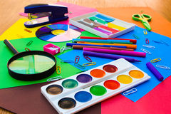 Stationery objects. Royalty Free Stock Images