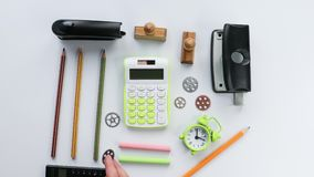 Stationery objects seen from above stock video footage
