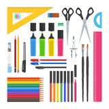Stationery objects set Royalty Free Stock Image