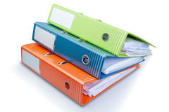 Stationery Office folder on the table with papers. Stock Photography