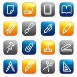 Stationery and office icons Stock Photo