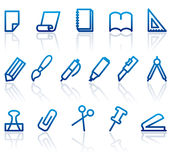 Stationery and office icons Royalty Free Stock Photos