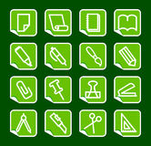 Stationery and office icons Royalty Free Stock Images