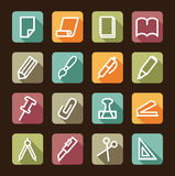 Stationery and office icons Stock Image
