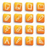 Stationery and office icons royalty free illustration