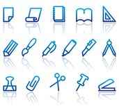 Stationery and office icons vector illustration