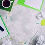 Stationery over concrete background Stock Photography