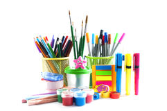 Stationery. Over white background Stock Images
