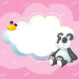 A stationery with a panda Royalty Free Stock Photo