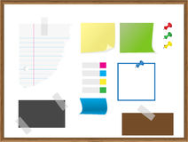 Stationery, paper, notes, docu Royalty Free Stock Photos