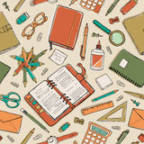 Stationery pattern Royalty Free Stock Image