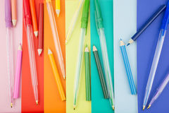 Stationery in a portrait orientation Royalty Free Stock Photos