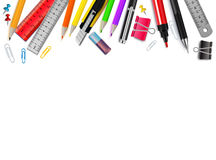 Stationery Realistic Background vector illustration