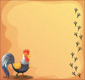 A stationery with a rooster Royalty Free Stock Photography