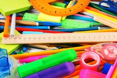 Stationery and school accessories. Royalty Free Stock Photography