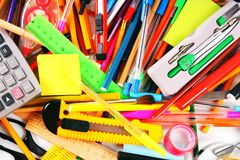 Stationery and school accessories. Stock Photography