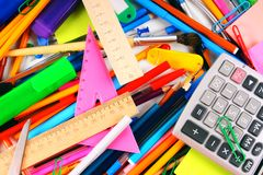 Stationery and school accessories. Stock Images