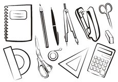 Stationery, school goods set Royalty Free Stock Photos