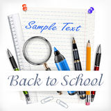 Stationery for school Royalty Free Stock Images
